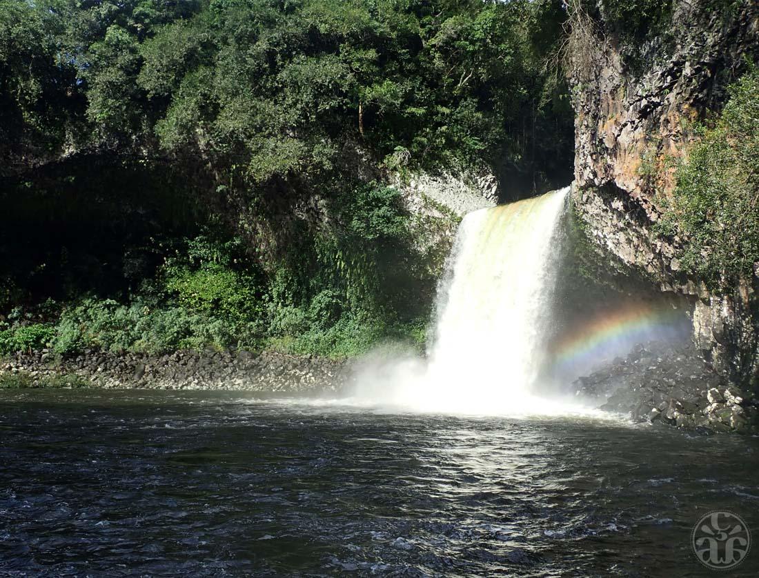 Bassin de la paix et sa cascade