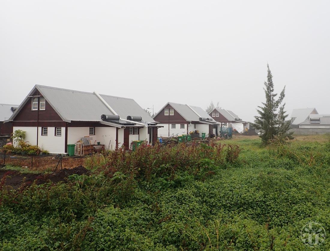 Cilaos sous le brouillard