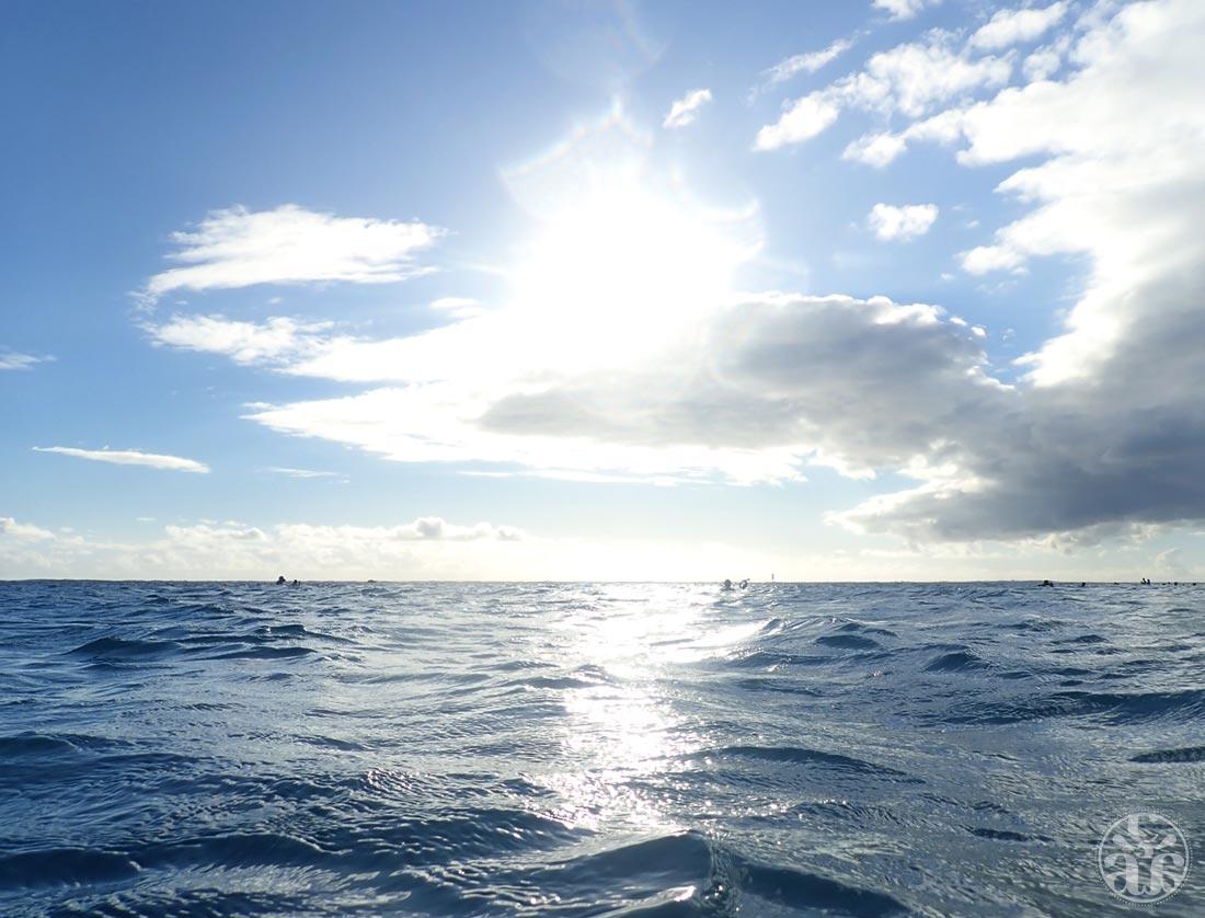 L'océan Indien sous un soleil éblouissant