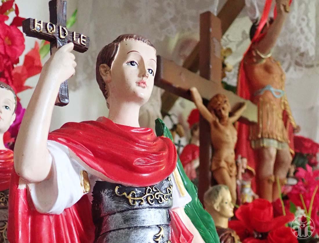 Une statuette de Saint Expédit