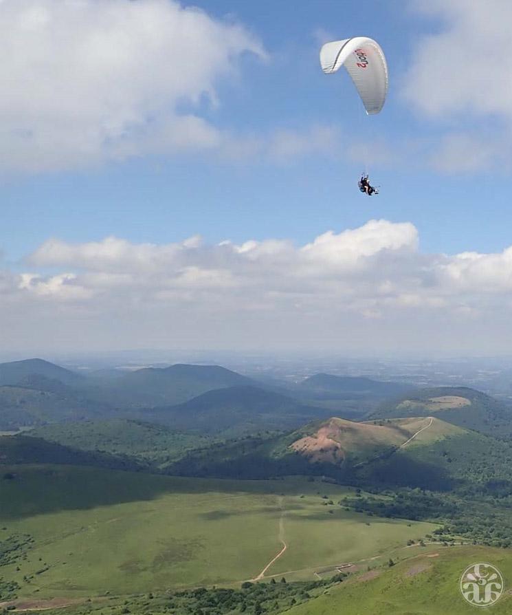 Le sommet, un spot pour parapente